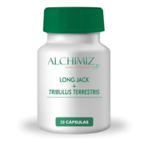 Long Jack 200mg + Tribulus Terrestris 500mg - 30 Cápsulas