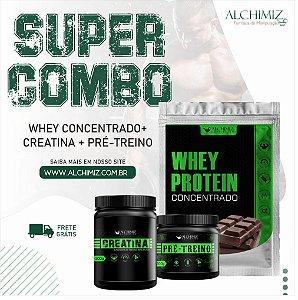 Super Combo - Whey Concentrado + Creatina +Pré-treino