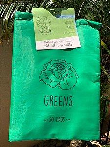 sacos reutilizáveis Sobags Greens Sempre Fresco Verde (para folhas frescas)