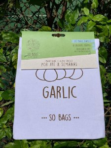 sacos reutilizáveis Sobags Garlic Sempre Fresco