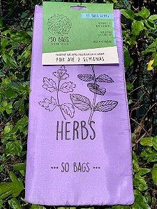 sacos reutilizáveis Sobags Herbs Sempre Fresco