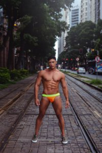 Jock Neón Orange/Green