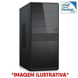 COMPUTADOR CIA CORPORATE I, INTEL PENTIUM G2020, PLACA MÃE B75, MEMORIA 4GB DDR3, SSD SATA 128GB, GABINETE BASICO PRETO