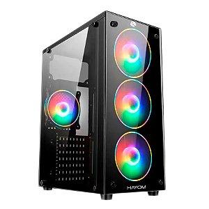 Gabinete Gamer c/4 Coolers RGB S/Fonte GB1719 Hayom