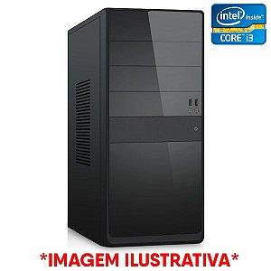 COMPUTADOR CIA CORPORATE VII, INTEL CORE I3 7100, PLACA MÃE H110, MEMORIA 4GB DDR4, SSD SATA 128GB, GABINETE BASICO PRETO