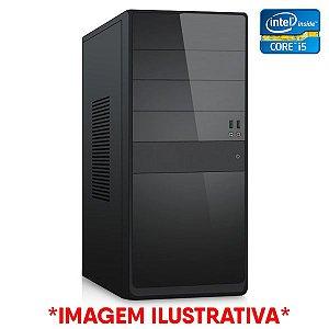 COMPUTADOR CIA CORPORATE X, INTEL CORE I5 2400, PLACA MÃE H61, MEMORIA 4GB DDR3, SSD SATA 120GB, GABINETE BASICO PRETO