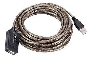 Cabo Extensor USB 2.0 Amplificado 20 Metros c/Filtro HiSpeed LT-USB020