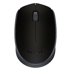 Mouse Sem Fio USB Ergonômico Ambidestro Preto M170 Logitech