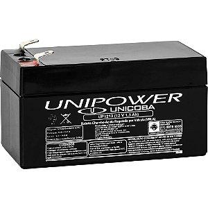 Bateria Selada 12V 1.3Ah VRLA UNIPOWER