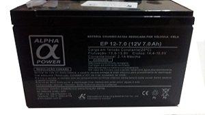 BATERIA SELADA 12V 7 AMP ALPHA POWER
