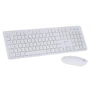 KIT Teclado + Mouse Wireless Branco CMW 120 VINIK