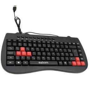 Mini Teclado USB Multimidia Exbom BK-M52