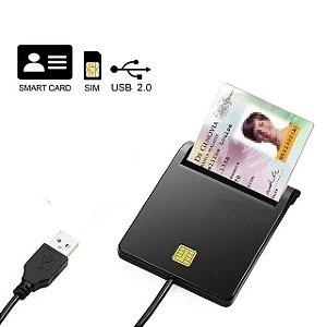 Leitor de Cartão Smart Card Certificado Digital USB A3