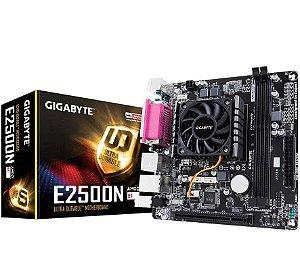KIT Placa Mãe Gigabyte Mini ITX E2500N + Processador Integrado AMD DUALCORE E1-2500