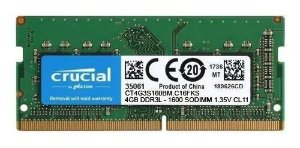 Memoria Notebook DDR3L 4GB 1600MHz Crucial