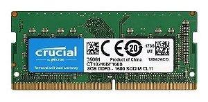 Memoria Notebook DDR3 8GB 1600MHz Crucial