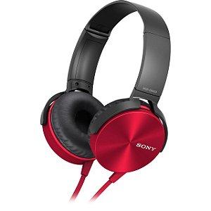 Fone de Ouvido C/Microfone Extra Bass Vermelho MDR-XB450AP Sony