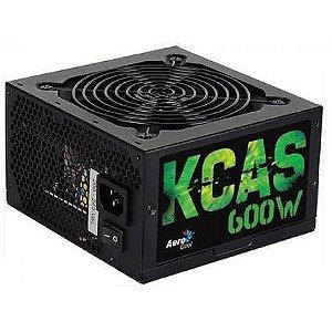 Fonte 600W Full Range PFC 80 Plus Bronze KCAS Aerocool