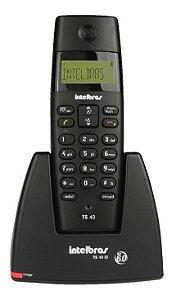 Telefone sem Fio TS40 c/ ID Identificador de Chamadas Suporta 7 Ramais Intelbras