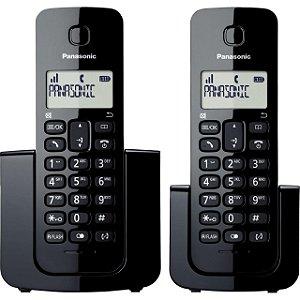Telefone sem Fio com ID Ramal KX-TGB112LBB Preto PANASONIC