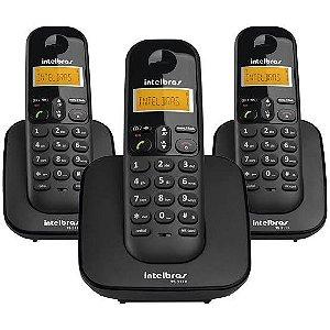 Telefone sem Fio c/ Identificador de Chamdadas + 2 Ramais TS3113 INTELBRAS