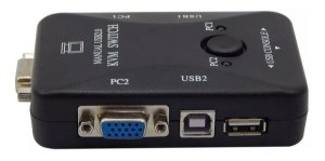 Switch KVM 2 Portas USB 2.0 KVM21UA