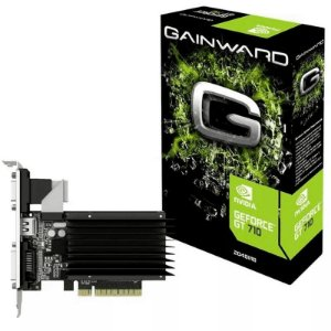 Placa de Vídeo NVIDIA Geforce GT 710 2GB DDR3 VGA/DVI/HDMI GainWard