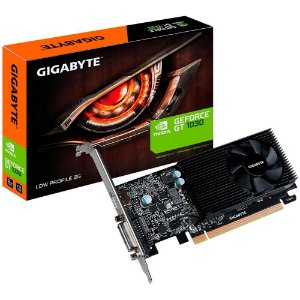 Placa de Vídeo Geforce GT 1030 2GB DDR4 64Bits Low Profile D4 2G DVI-D/HDMI Gigabyte