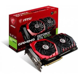 Placa de Vídeo Geforce GTX 1070 Ti Gaming 8GB DDR5 256Bits Dual-Fan DVI-D/HDMI/DP 3x MSI
