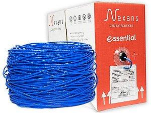 Cabo CFTV/Rede Nexans Padrão CAT5E 305 Metros UTP Cmx 4P Azul