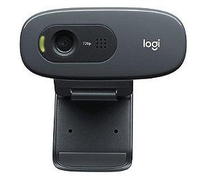 Webcam 3MP 720P 30FPS USB c/Microfone C270 Logitech