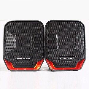 Caixa de Som Preto/Vermelho PC/Notebook P2 Voxcube RMS 8W VC-D360 Infokit
