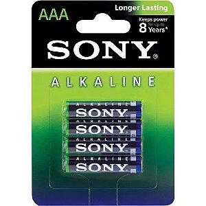 Pilha Alcalina Sony AM4L-B4D AAA 4 Unidades