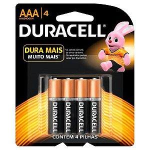 Pilha Duracell Alcalina MN2400B4 AAA 4 Unidades