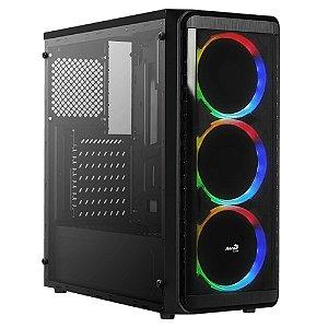 Gabinete Mid Tower RGB 3 Coolers Aerocool SI-5200