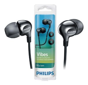 Fone de Ouvido Preto Auricular Philips SHE3700BK