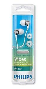 Fone de Ouvido Branco Auricular Philips SHE3700WT