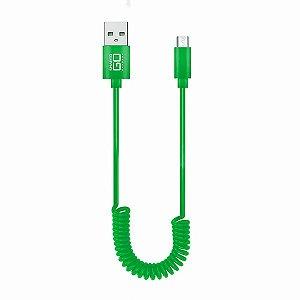 Cabo Micro USB Espiral 1.2M Cor Sortida WI354 Multilaser