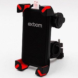 Suporte de Celular MOTO Com Carregador USB SP-CA54 Exbom