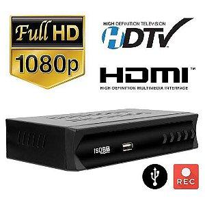 Conversor Analógico/Digital para Sinal de TV Gravador Full HD HDMI RCA
