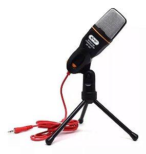 Microfone Condensador P2 com Tripé KP-917 Knup