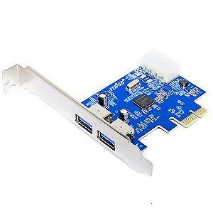 Placa PCI-Express 2 Saídas USB 3.0 NEC-K2USB3.0 Knup