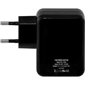 Fonte de Energia Turbo Power 4 Portas USB 4,2A UPS-101BK Fortrek