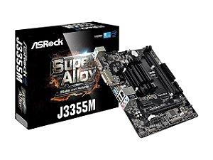 Placa Mãe Asrock Micro ATX J3455 + Processador Integrado Intel Celeron Quad Core J3455 2.3GHz