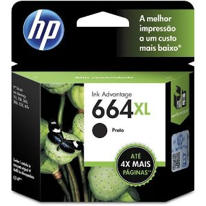 Cartucho Original HP 664XL Preto 8,5ml F6V31AB