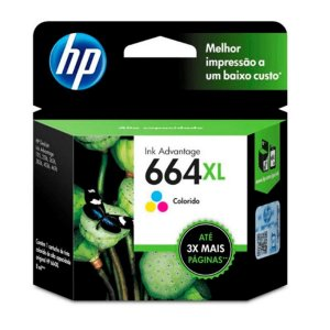 Cartucho Original HP 664XL Colorido 8ml F6V30AB