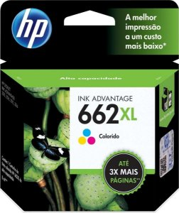 Cartucho Original HP 662 XL Colorido 8ml CZ106AB