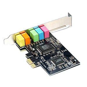 Placa de Som PCI-e 32 bits 5.1 Canais