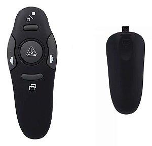 Apresentador Sem Fio USB Preto Laser Point 5 Botões