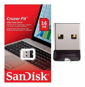 Pen Drive 16GB USB 2.0 Cruzer FIT Sandisk
